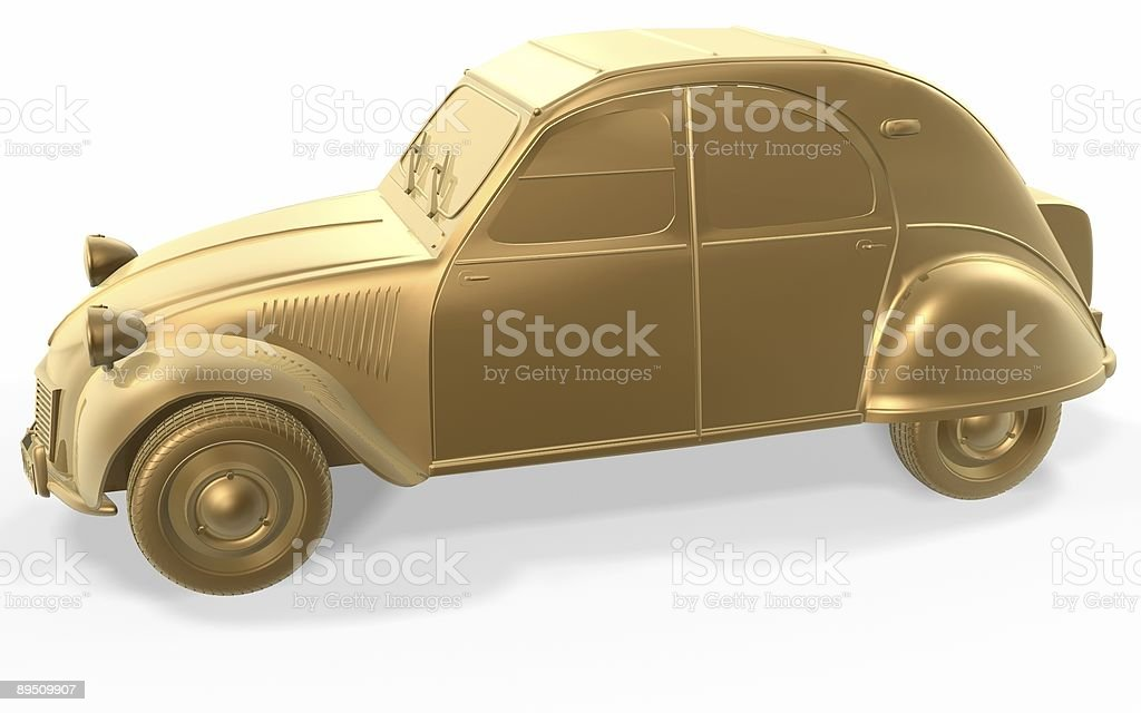 golden vintage car royalty-free stock photo