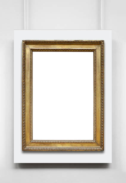 Golden Vintage Frame (All clipping paths included) stock photo
