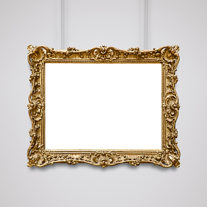 Golden Vintage Frame (All clipping paths included)