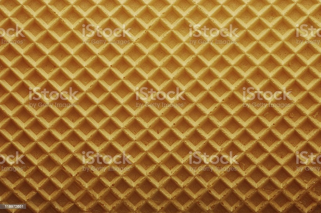 Golden wafer texture background stock photo