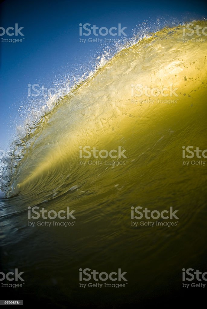 Golden Wall royalty-free stock photo