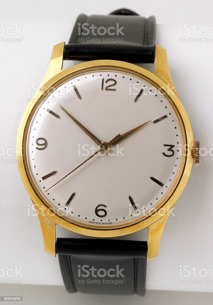 Golden watch royalty-free stock photo