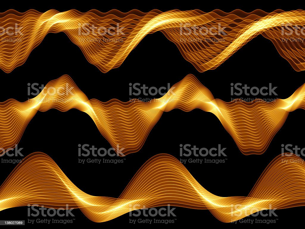 Golden Waves royalty-free stock photo