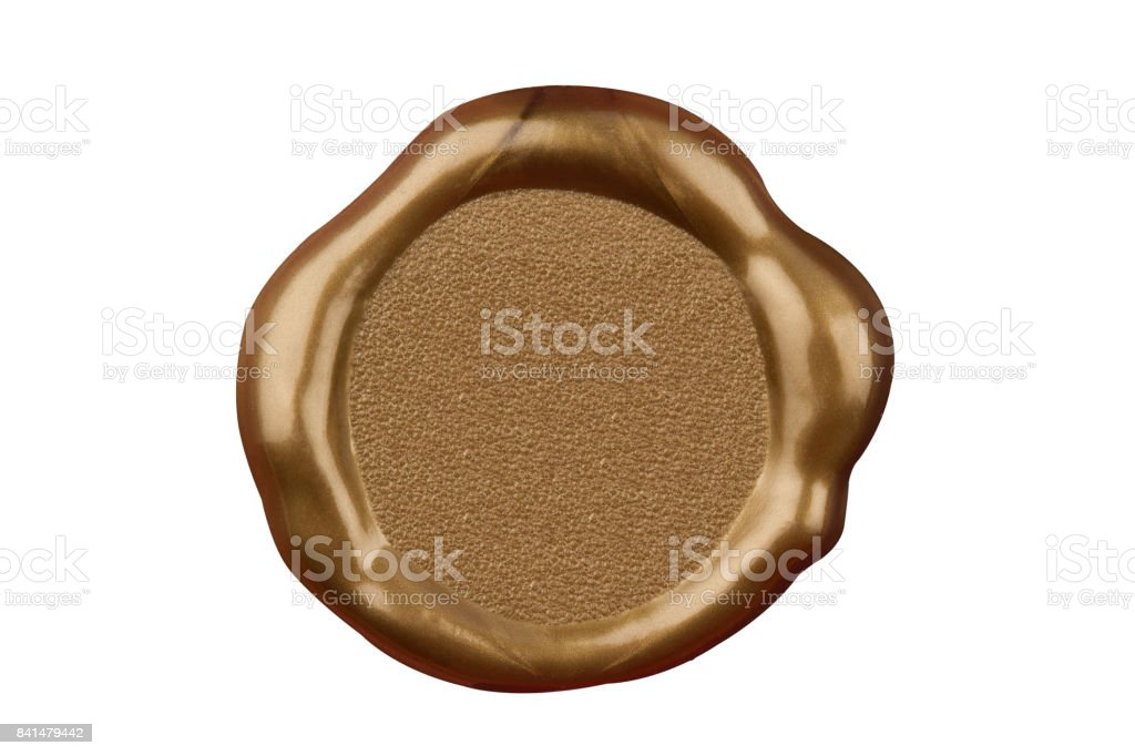 golden wax blank seal stock photo
