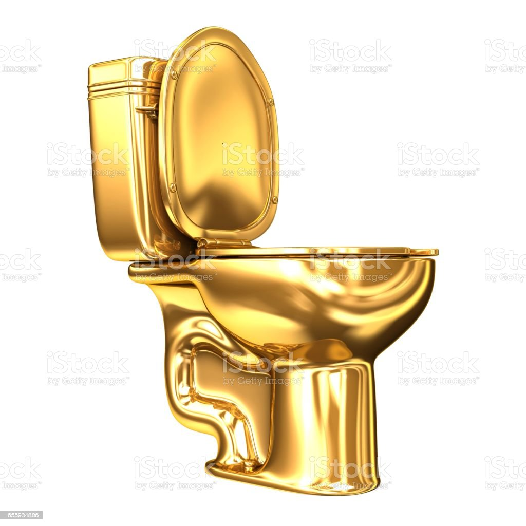 golden wc toilet stock photo more pictures of bathroom istock. Black Bedroom Furniture Sets. Home Design Ideas