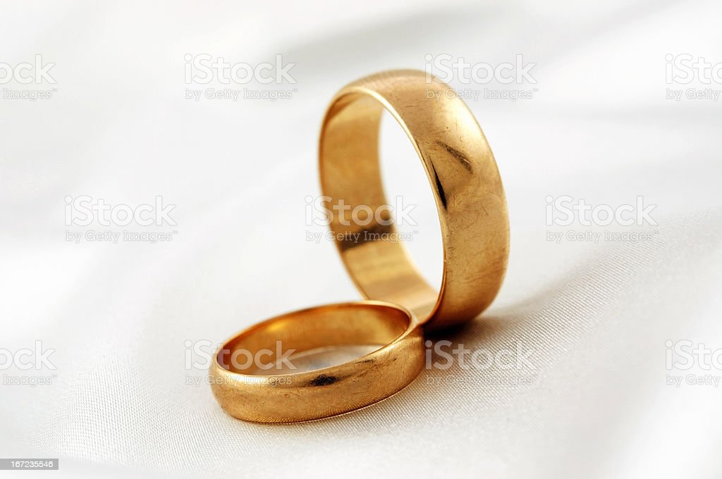 Golden wedding rings royalty-free stock photo