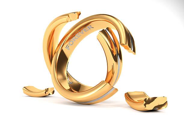 Wedding Ring Broken Stock Photos, Pictures & Royalty-Free