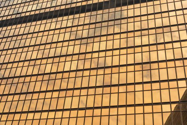 Golden Windows Building stock photo