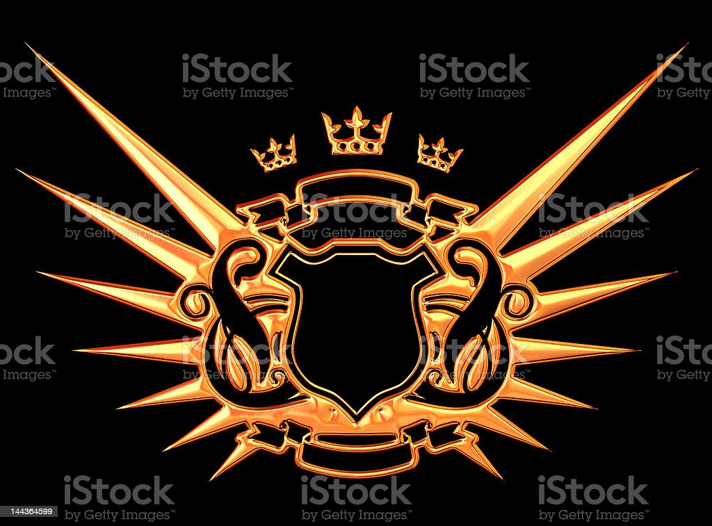 Golden Wings royalty-free stock photo