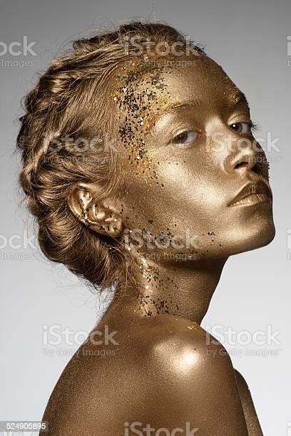 Golden Frau Stockfoto und mehr Bilder von Eine Frau allein