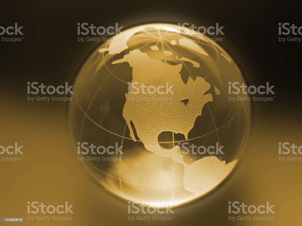 Golden World royalty-free stock photo