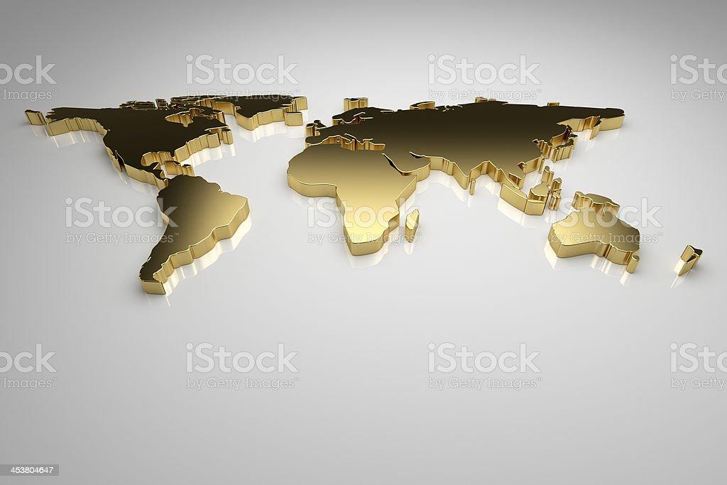 Golden World stock photo