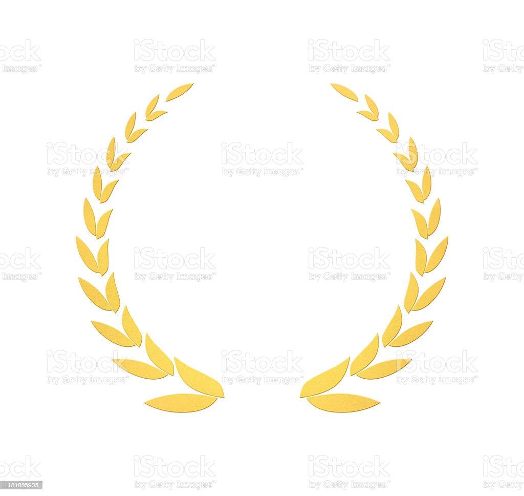 Golden wreath of laurels stock photo