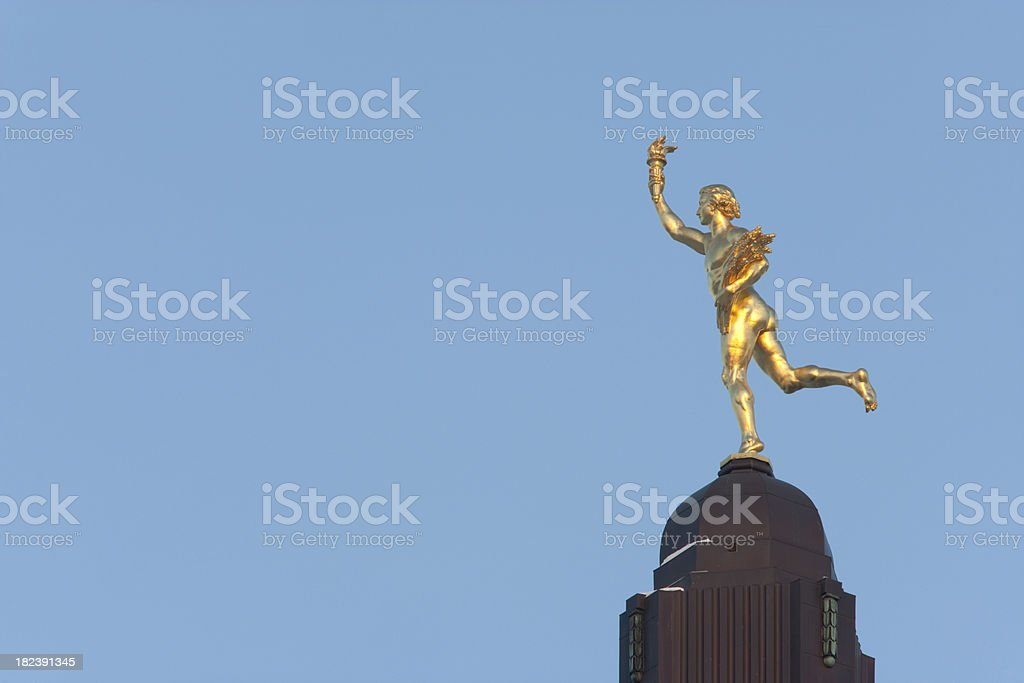 GoldenBoy Winnipeg royalty-free stock photo