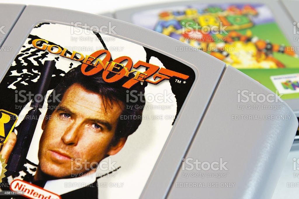 Goldeneye 64 - Nintendo Game stock photo