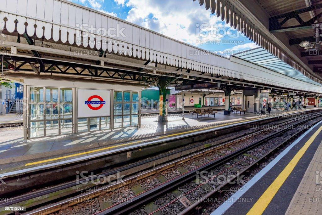 Golders Green tube station stock photo