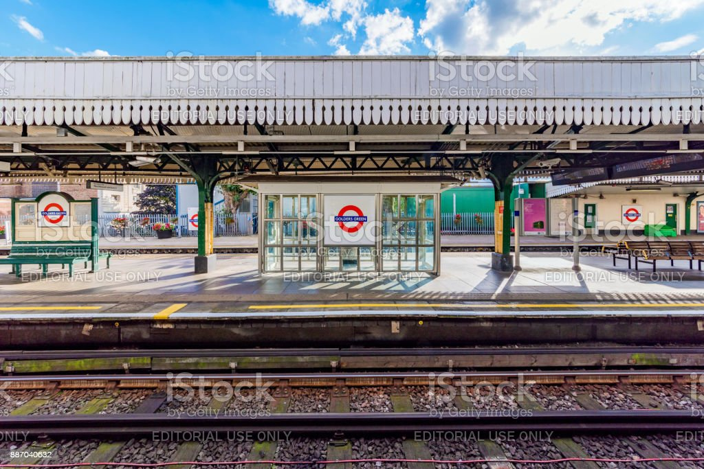 Golders Green tube station stock photo