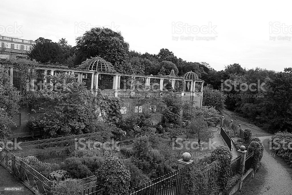 Golders Hill Garden and Pergola stock photo