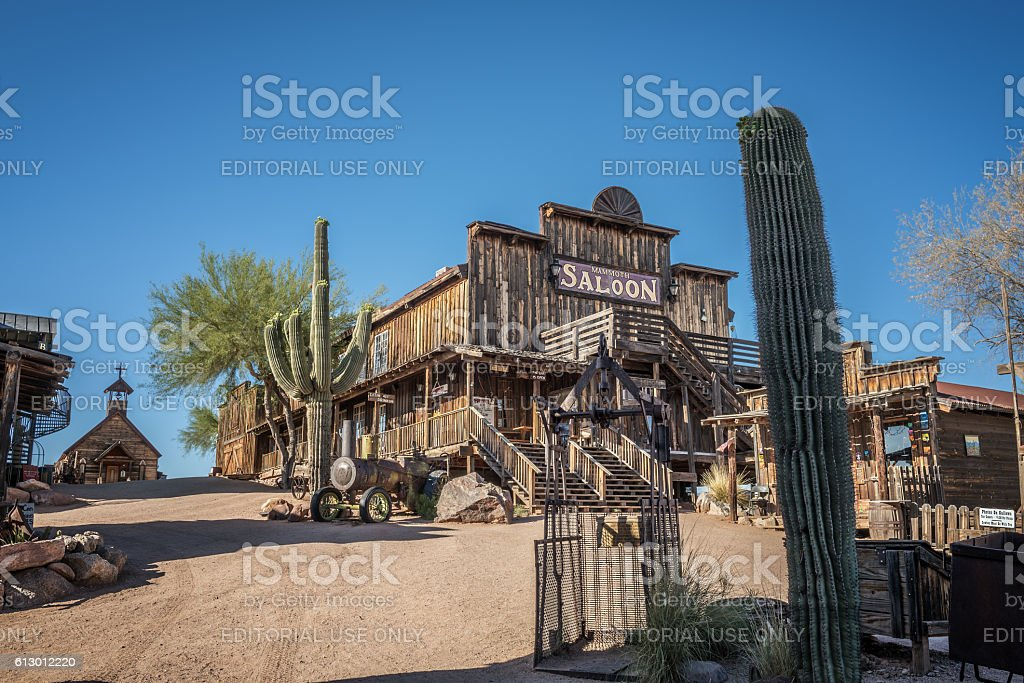 Goldfield Ghost town in Arizona stock photo