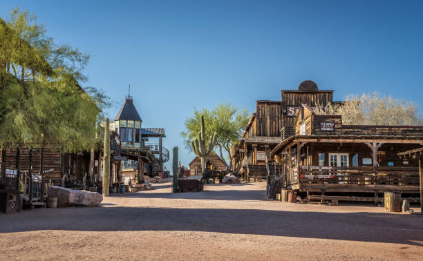 goldfield ghost town in arizona - western town stock photos and pictures
