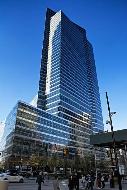 Goldman Sachs Co. Building Cityscape & People, Lower Manhattan, NYC stock photo