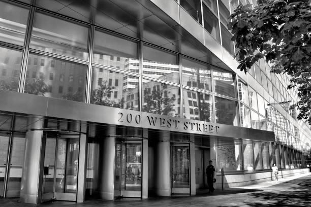 Goldman Sachs Co. Headquarters Building Cityscape, Lower Manhattan, New York City, USA stock photo