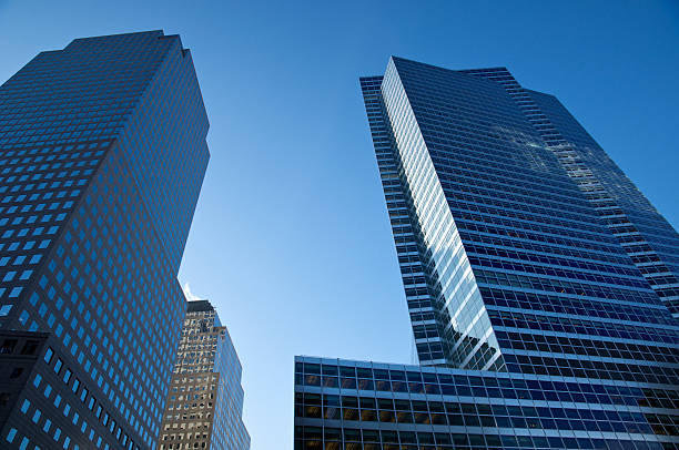 Goldman Sachs Global HQ & World Financial Center buildings, NYC stock photo