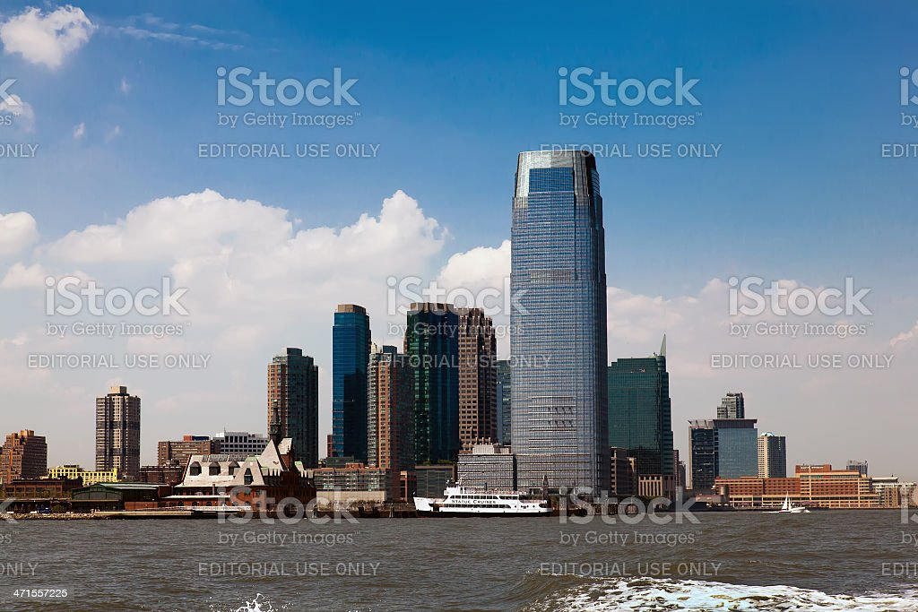 Goldman Sachs Tower in New Jersey stock photo