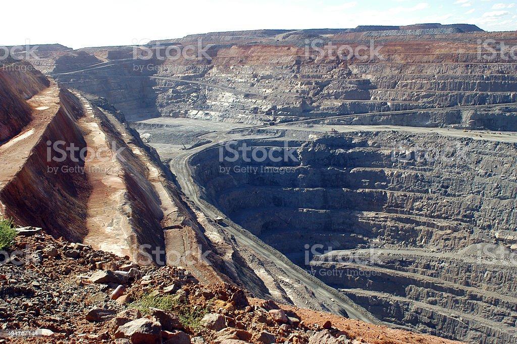 Goldmine of Kalgoorlie stock photo