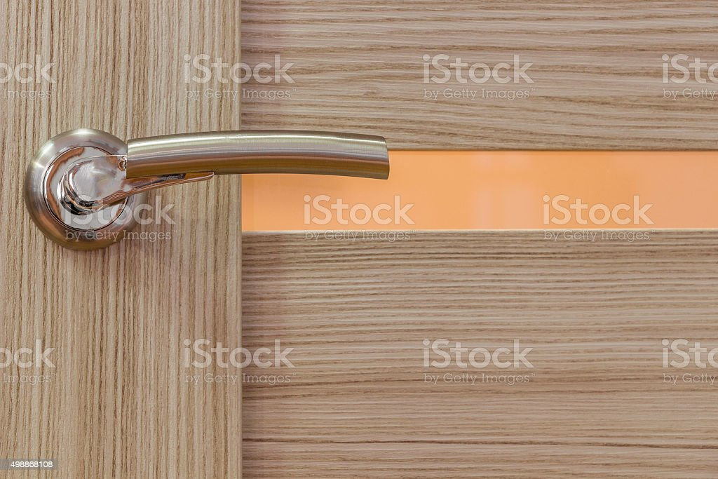 Gold-plated door handle stock photo