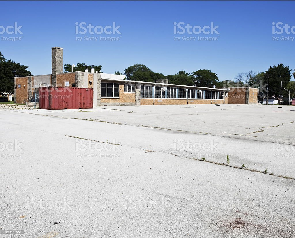Goldsmith Elementary School in South Deering, Chicago royalty-free stock photo