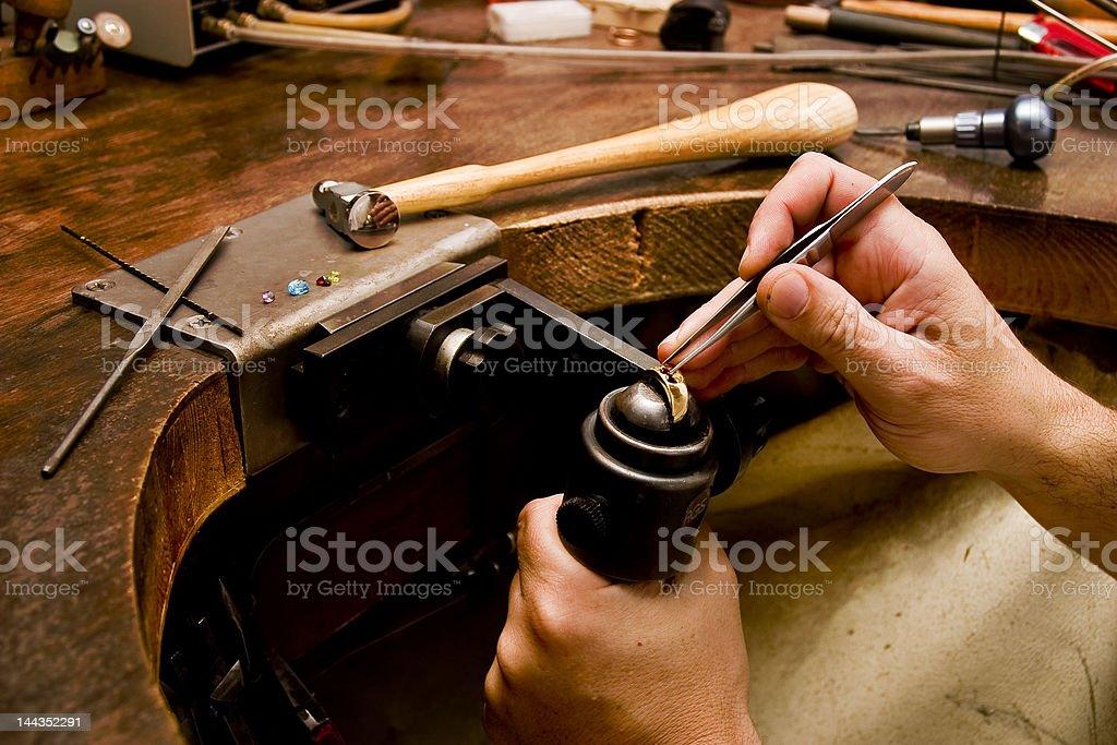 Goldsmith stock photo