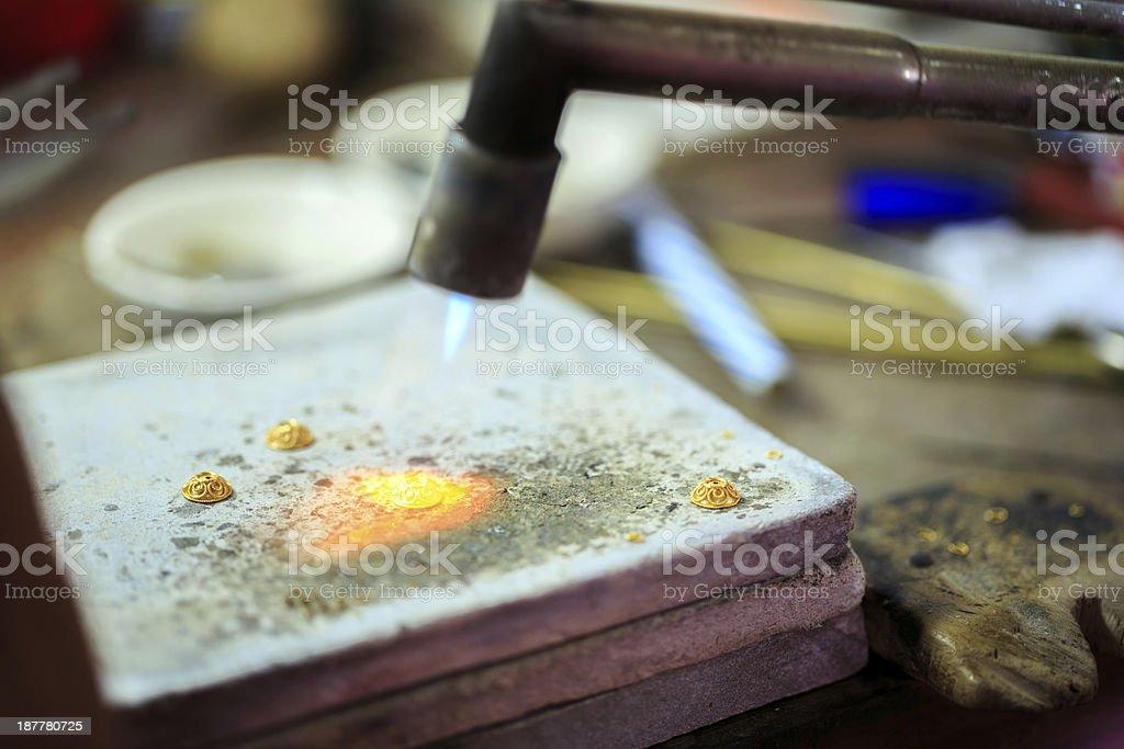 Goldsmith working royalty-free stock photo