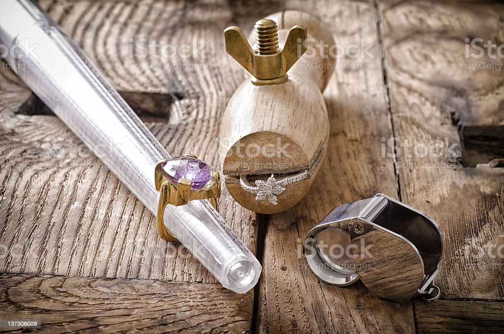 Goldsmith di strumenti - foto stock