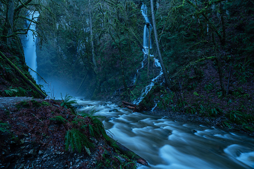 istock Goldstream Provincial Park waterfall in Victoria BC 1224023399