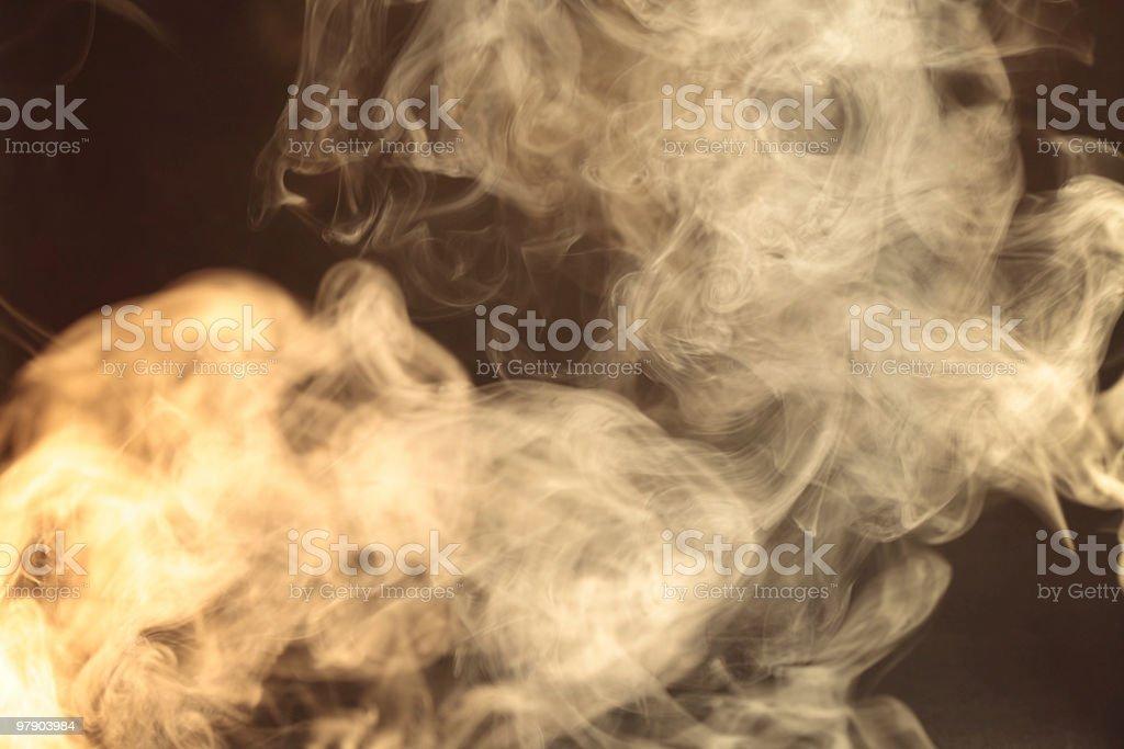 Goldy smoke royalty-free stock photo
