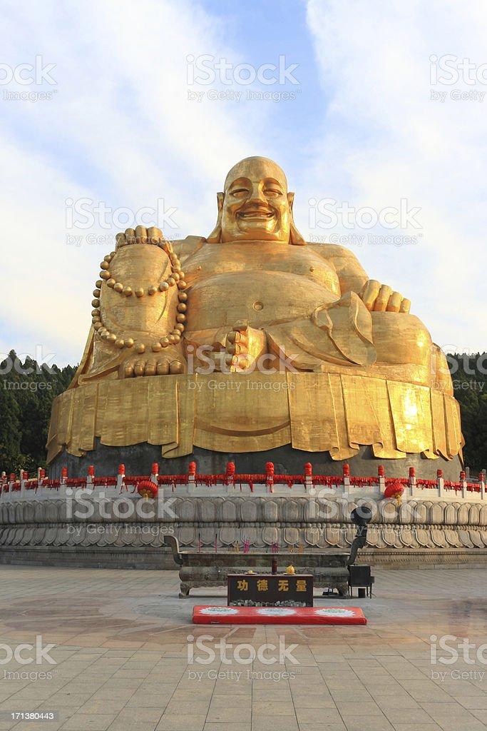 gole Buddha Statue stock photo