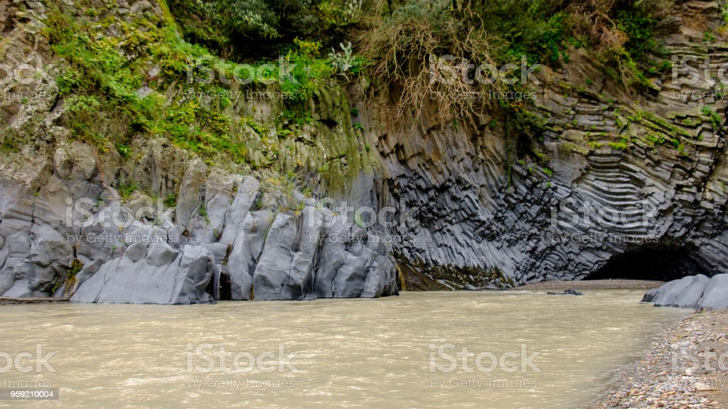 Gole dell'Alcantara - Alcantara Gorge (Sicily, Italy) stock photo