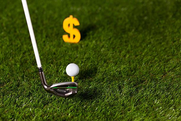 Golf and Money stock photo