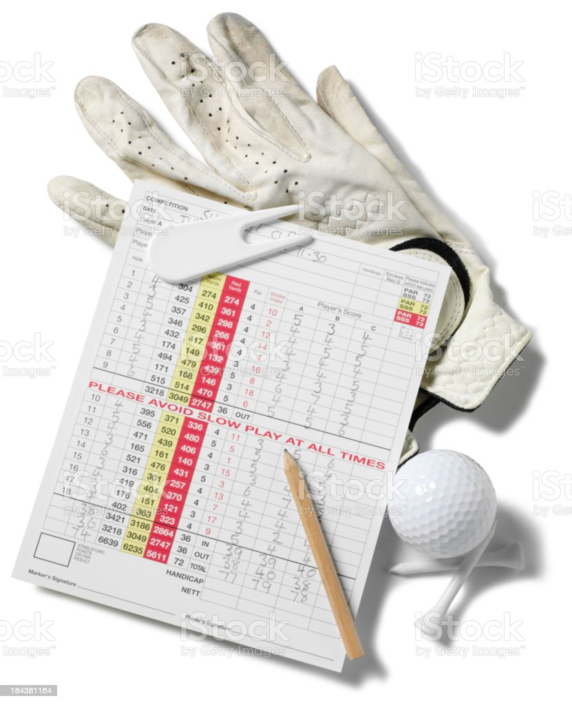 Golf and Score Card stock photo