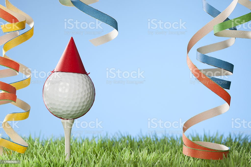 Golf anniversary or party concept royalty-free stock photo