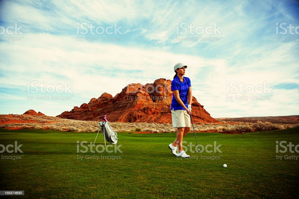 Golf Approach royalty-free stock photo