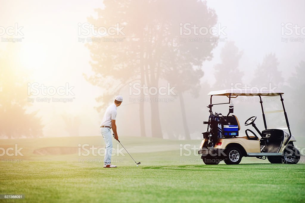 golf approach shot stock photo