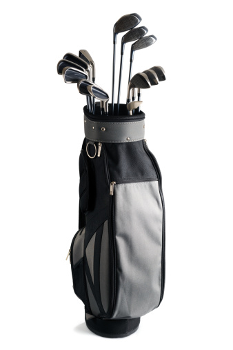High quality studio photogrphy of golf equipment isolated on white background