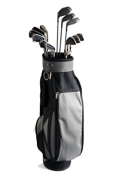golf bag and clubs - xxxlarge - golf clubs stock photos and pictures