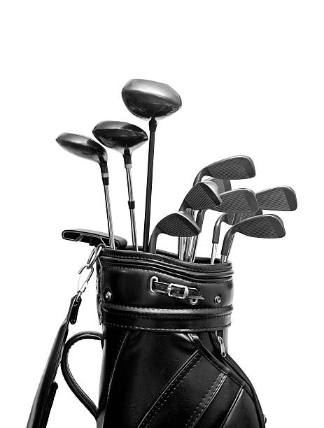 golf bag - golf clubs stock photos and pictures