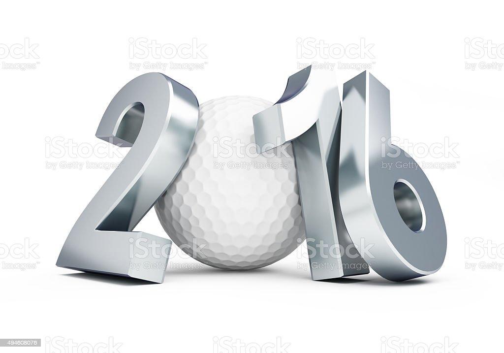 golf ball 2016 stock photo