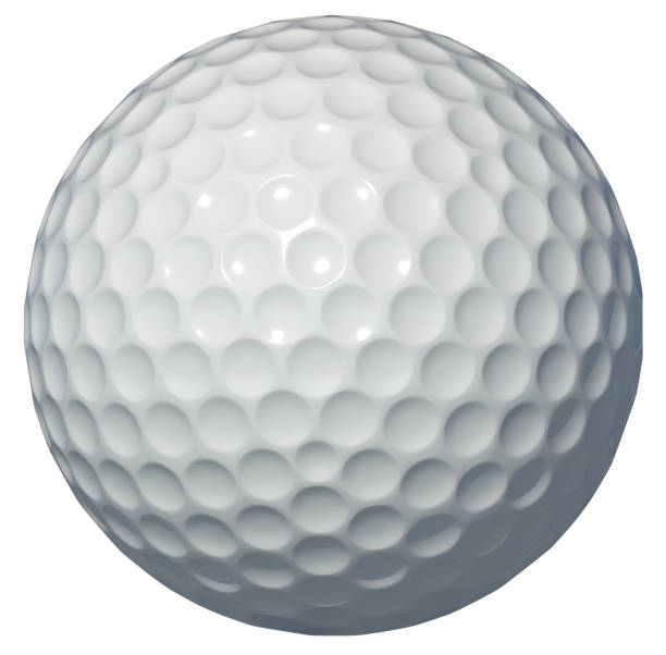 Golf ball 3d rendering golf, ball, 3d, rendering, white background, isolated golf ball stock pictures, royalty-free photos & images