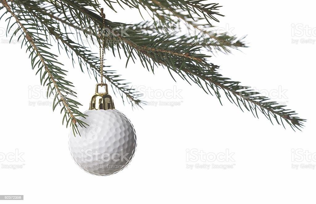 golf ball and christmas royalty-free stock photo