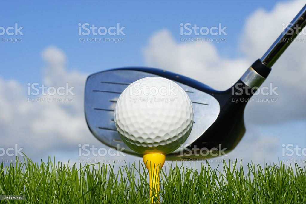 golf ball and club royalty-free stock photo
